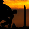 US Capitol, Washington Monument, Iwo Jima,  Sunrise