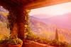 Tuscan balcony view,