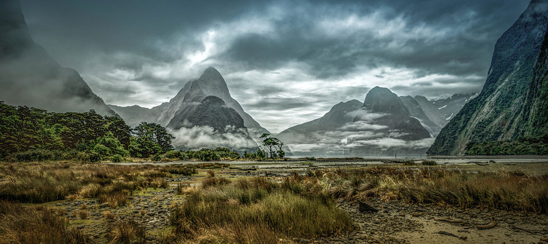 mighty moody mitre peak | fiordland, new zealand