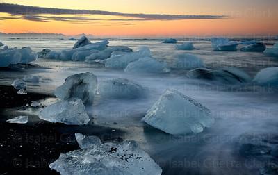 Jokulsarlon Sunrise, Iceland