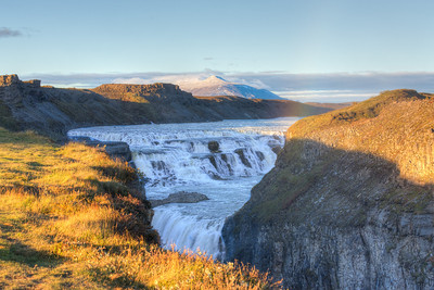 Gullfoss at Sunset