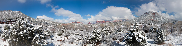 Pano Sedona Snow covered 1 Jan 2015