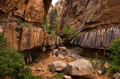 Sandstone Canyon near Zion National Park
