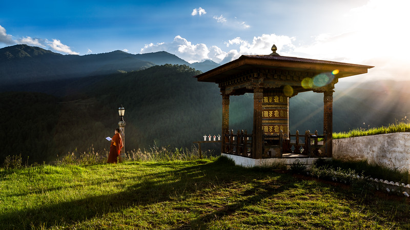 Why is Bhutan the happiest nation on earth?  Maybe it's because they really care about each other, they take good care of the land and it's resources, because the government provides free education and free healthcare, because they put the benefit of the people as a whole before benefiting individuals, because of their rich culture with its deep belief that we are all temporary on earth and it's more important to take care of our planet and to be kind to each other than using it to benefit few.   Maybe happiness comes from true harmony.                                                                                    #bhutan #travelasia #buketlist #travel #canon #5DIII