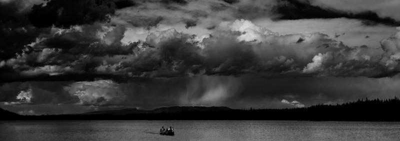 Kayakers on Leigh Lake