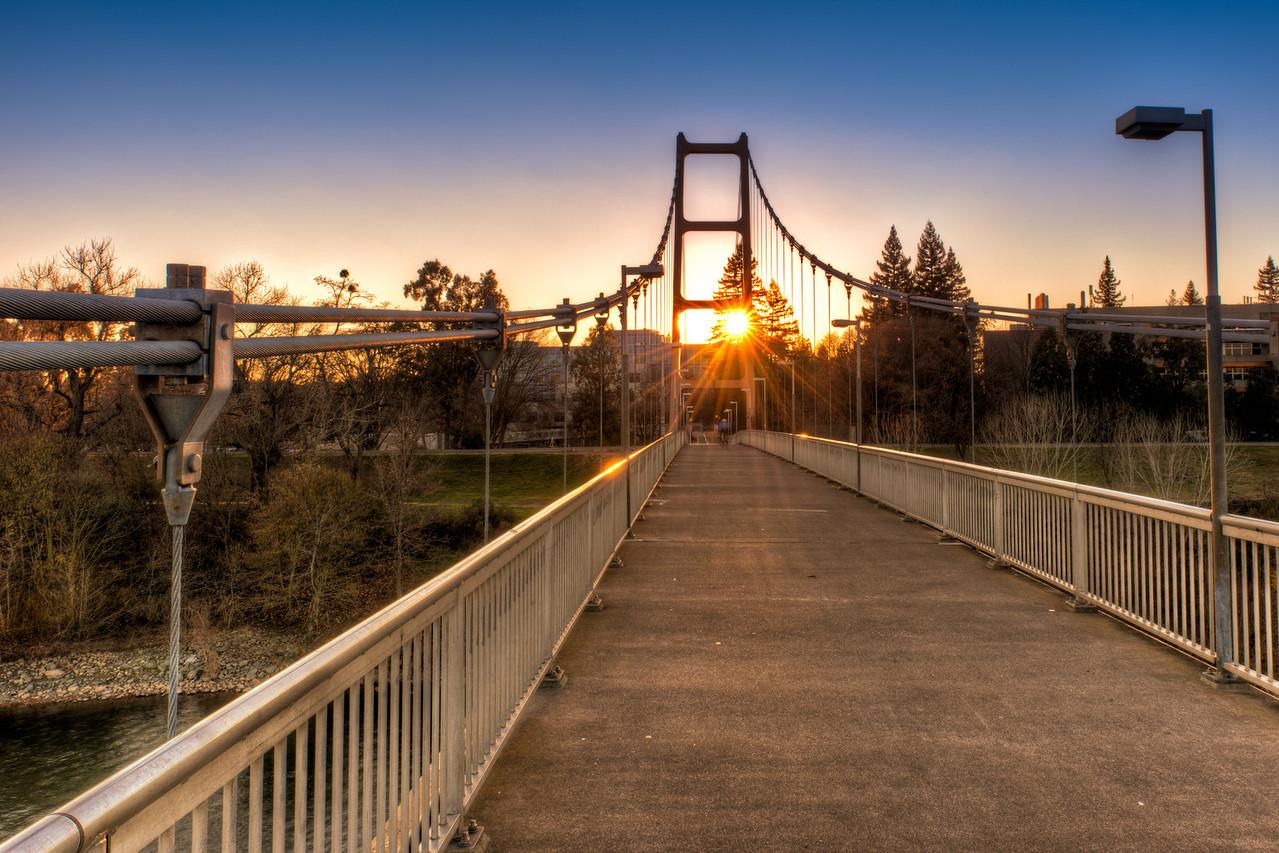 Guy West Bridge at Sunset