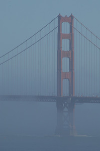 Another foggy day on the Golden Gate.