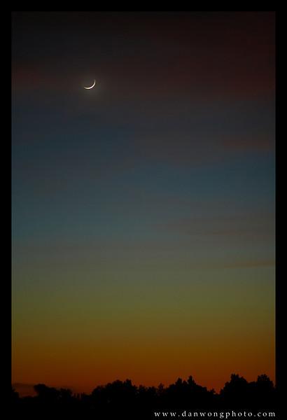 Crescent moon. Tucson, Arizona.