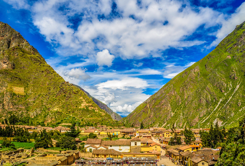 Mountain Ranges, Ollantaytambo, Peru