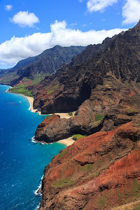 Na Pali Coast Kauai Aerial Shot August 2012