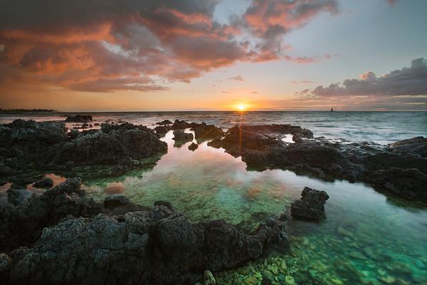 Puako Sunset, Big Island, Hawaii