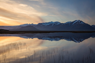 Iceland sunset reflection - Hofn