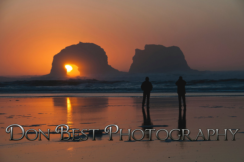 Twin Rocks Sunset #0876