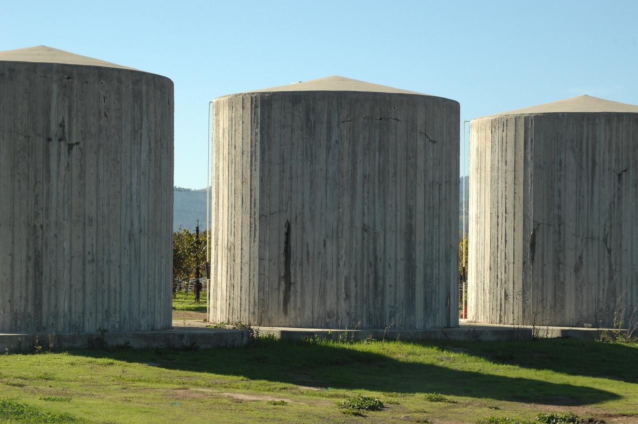 Storage tanks at Andretti Winery  Napa, California