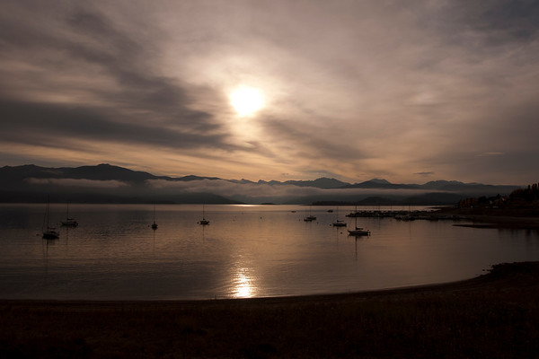 Fall sunrise at Grand Lake