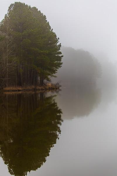 #fog @lakeview #reflection #ncstateparks #jordanlake