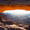 View through Mesa Arch at Sunrise