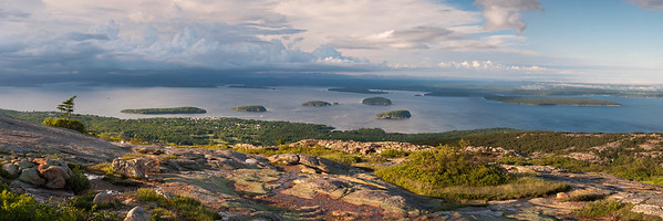 Bar Harbor from Cadillac Mountain, Acadia National Park, Maine
