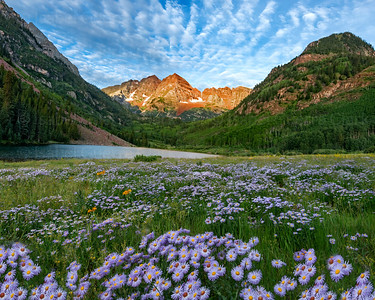 Maroon Bells in the Spring, CO