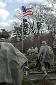 The Korean War Memorial Washington DC