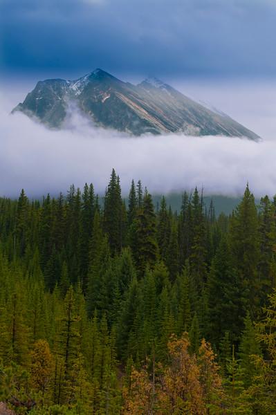 Mountain scenery in Jasper National Park, Jasper, Alberta, Canada.