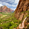 View of Zion Valley from the trail to Angel's Landing.