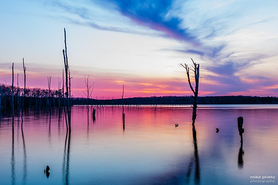 Sunset at Manasquan Reservoir
