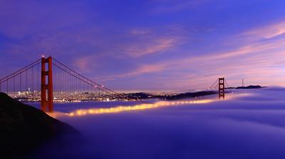 San Francisco Fog on the Golden Gate Bridge.