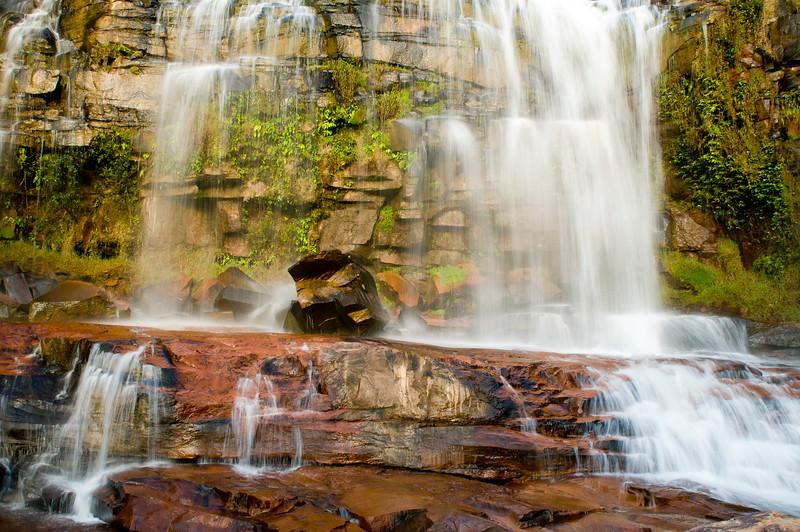 waterfall in Gran Sabana, venezuela.