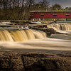 Cataract Falls and Bridge,  Owen County, Indiana (largest falls in Indiana by volume)