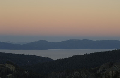 View of Lake Tahoe  from High Camp, Squaw Valley, California