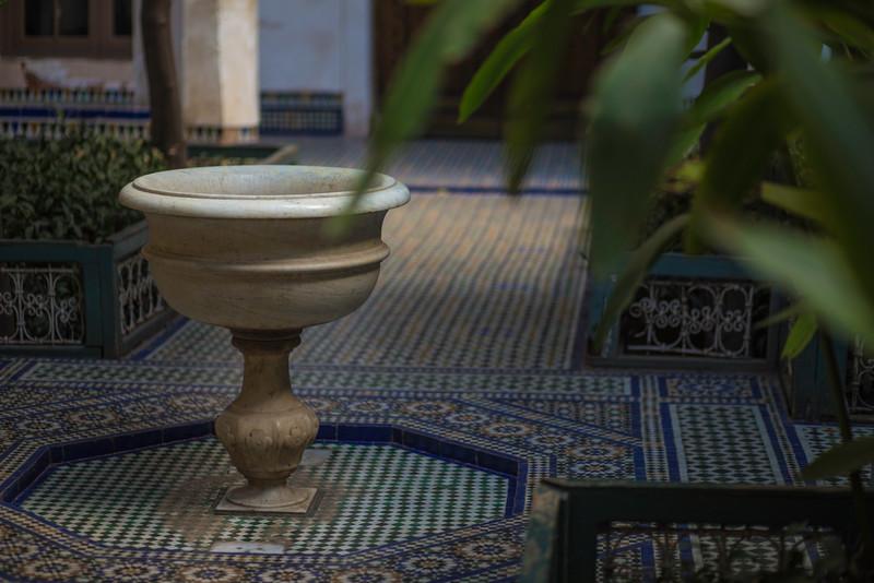 Palais de la Bahia Courtyard, Marrakech, Morocco