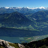 View of lake Lucerne from Mt. Pilatus