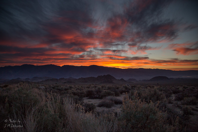 Sunrise over the Owens Valley