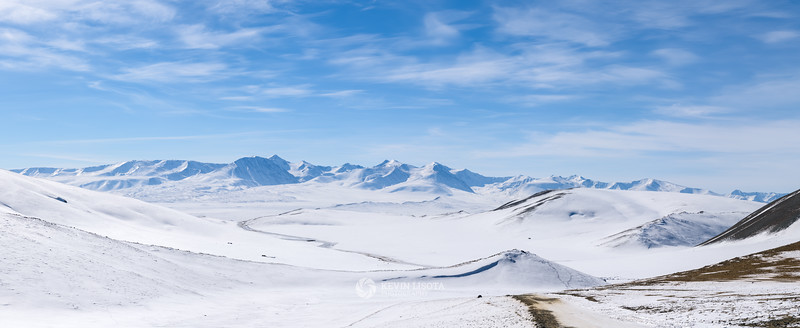 Altai Mountains of Western Mongolia in Winter