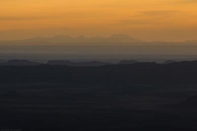 dawn dusk in SE Utah