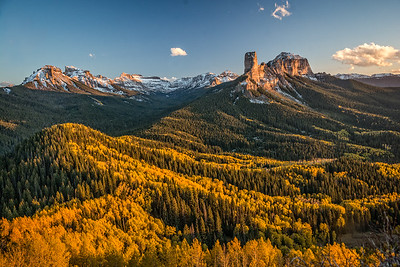 Courthouse Mountain and Cimarron Aspens