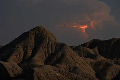 Lightning over the Badlands