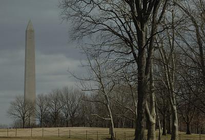 View from the Vietnam War Memorial, Washington DC