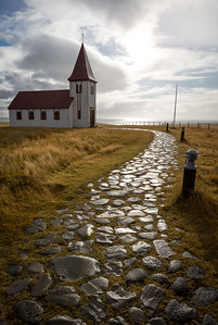 Church in Hellnar, Snæfellsnes Peninsula, West Iceland