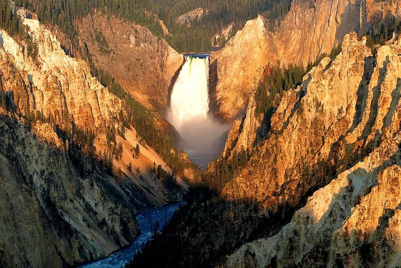 Sunrise at Lower Falls Yellowstone