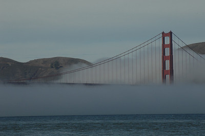 Fog on the Gate to the San Francisco Bay