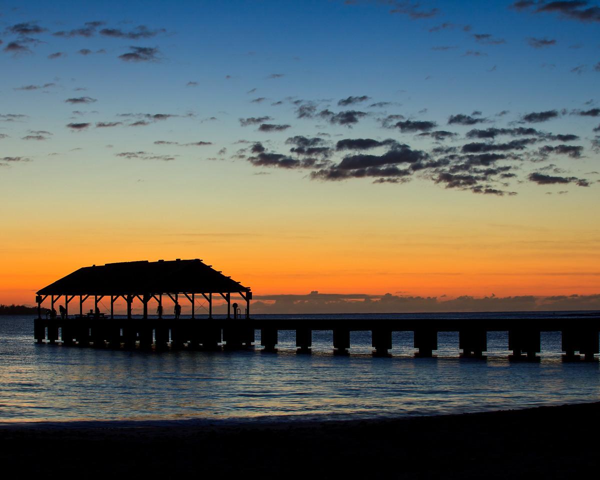 Sunset Hanalei Pier<br /> Hanalei, Hi