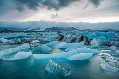 Jökulsárlón blue ice
