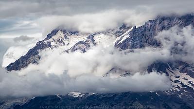 Mount Rainier playing hard to see