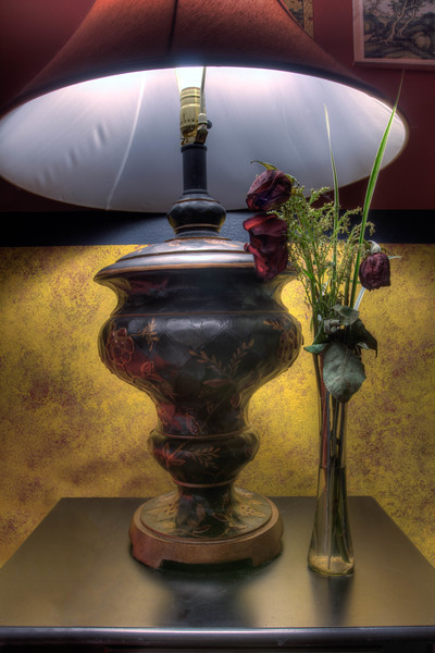 Roses and Lamp
