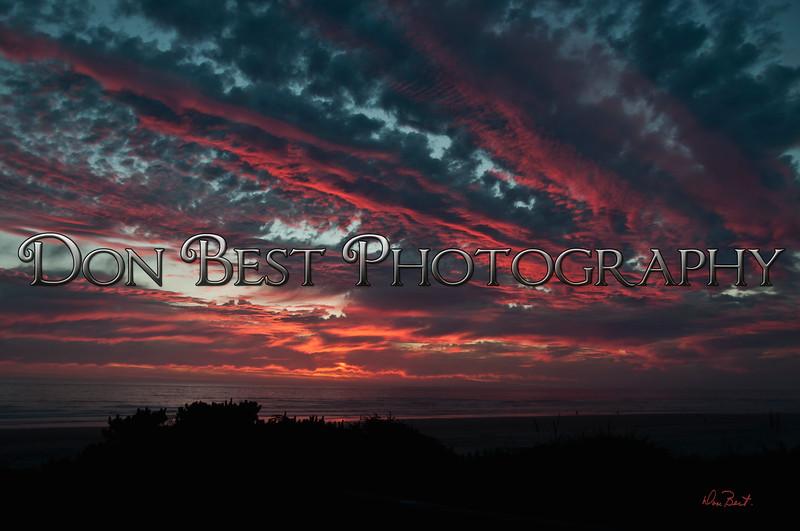 Dramatic Sunset at Rockaway Beach