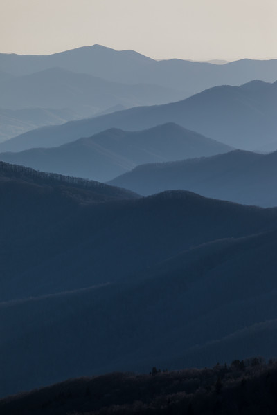 A view of the Great Smoky Mountains , love the layeres.