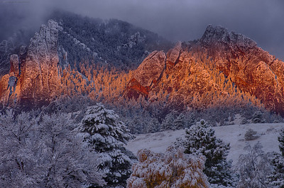 Glowing Flatirons