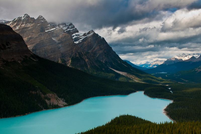 Peyto Lake, Canadian Rockies, Banff National Park, Alberta Canada.